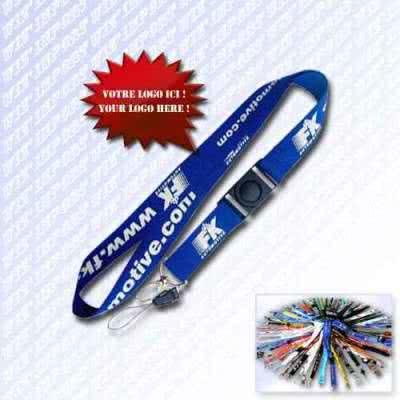 Lanyard cordon publicitaire avec boucle clip de sécurité en tour de cou