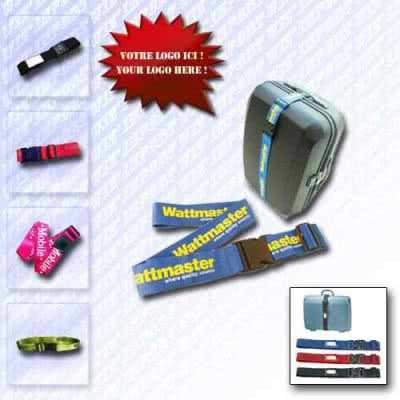 Sangle ceinture à clip publicitaire pour bagages