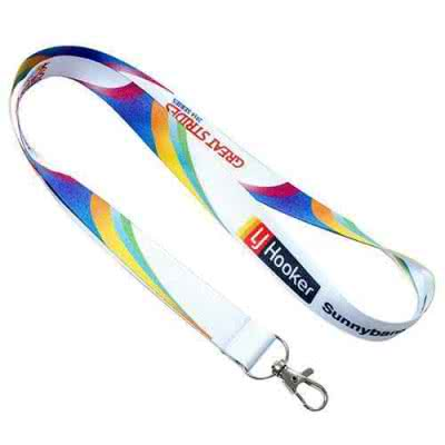 Lanyard tour de cou satiné impression transfert 20mm